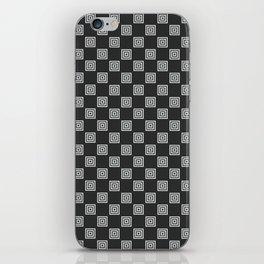 Phillip Gallant Media Design - Black and White Squares iPhone Skin
