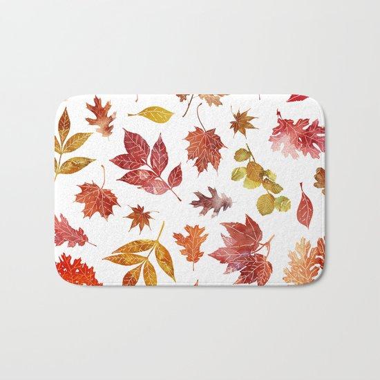 Hot Leaves Bath Mat