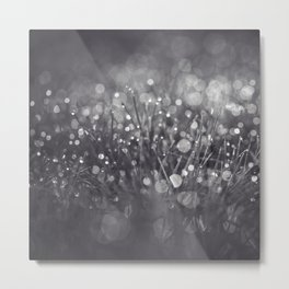 black and white and bokeh Metal Print
