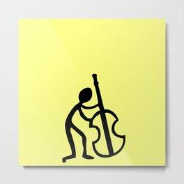 Guitar Figure in Yellow Metal Print