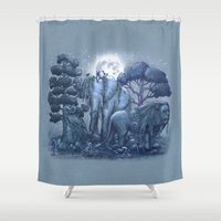 garden Shower Curtains featuring Stone Garden by Terry Fan