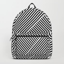 Black and White Abstract geometric pattern Backpack