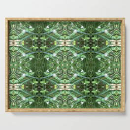 Herb Garden Chives Pattern Serving Tray