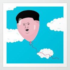 Kim Jong-Ball-Un Art Print