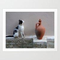 Meditations on a Clay Jug 3 Art Print