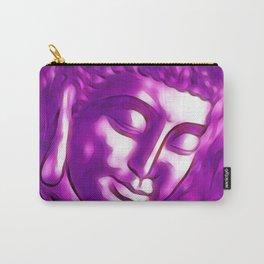Pink Purple Buddha Art Portrait Carry-All Pouch