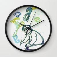 writing Wall Clocks featuring writing by valentina biletta
