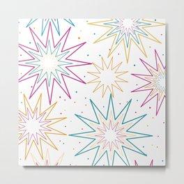 Estrelas em cores  Metal Print
