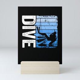 Dive Scuba Diving Vintage Freediving Divers Gift Mini Art Print