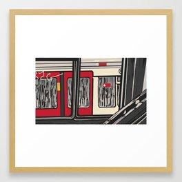 Underground, Windows Framed Art Print