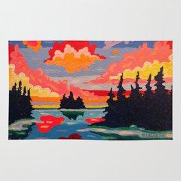 Northern Sunset Surreal Rug