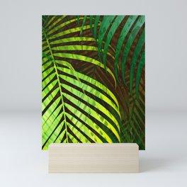 TROPICAL GREENERY LEAVES no8a Mini Art Print
