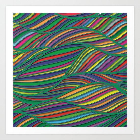 Flowing Lines Art Print