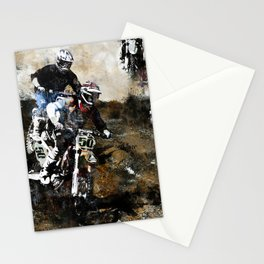 """""""Dare to Race"""" Motocross Dirt-Bike Racers Stationery Cards"""