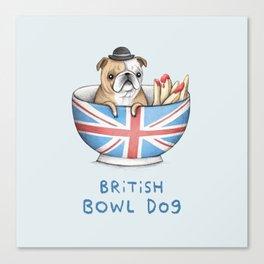 British Bowl Dog Canvas Print