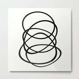 Come Together - Black and white, minimalistic, abstract, art print Metal Print