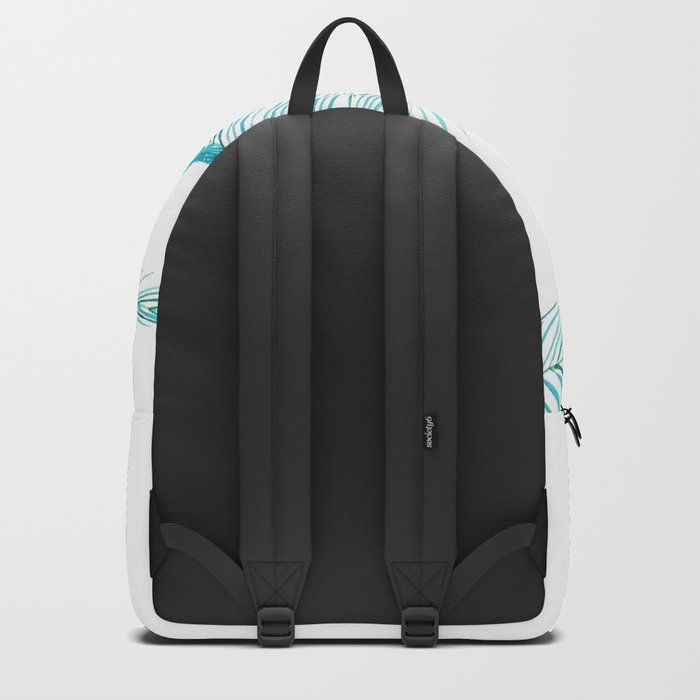 falling palm leaves watercolor Backpack