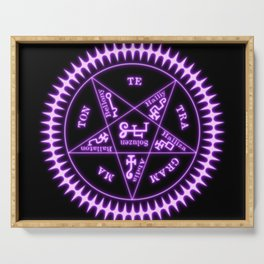 Sebastian Michaelis Sigil Light (black bg) Serving Tray