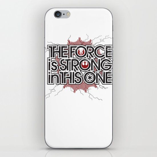 The Force is strong in this one iPhone & iPod Skin