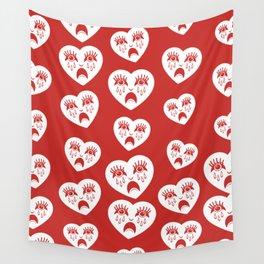 Sad Heart Pattern Wall Tapestry