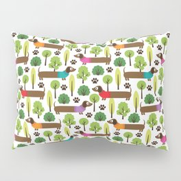 Dachshunds On A Walk In The Park Pillow Sham
