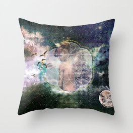 Self Discovery Sacred Geometry Metaphysical Throw Pillow