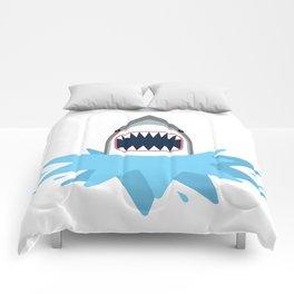 Cartoon Shark Splash Comforters