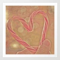 I Heart Xmas Art Print