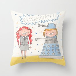 October - Year of Sisters - Watercolor Throw Pillow