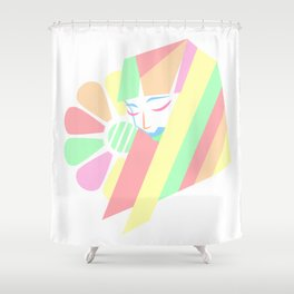 Pastel Melancholy in Spring Shower Curtain