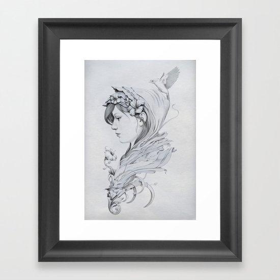 Hooded Framed Art Print