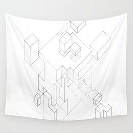 Split Cube Wall Tapestry
