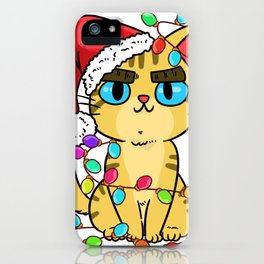 Animal Christmas Fairy Lights Christmas Shirt Cool iPhone Case