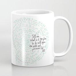 Summer Day (Mary Oliver) - Blue/Green Coffee Mug