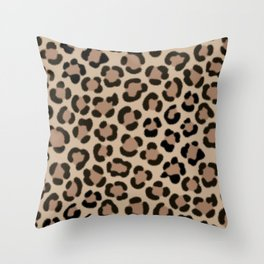 Trendy Leopard Print Simulated Fur Pattern Throw Pillow