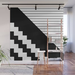 Phases Of Black And White Wall Mural