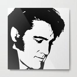 Elvis Silhouette 1 Metal Print