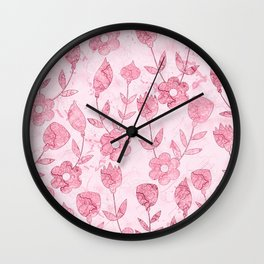 Watercolor Floral II Wall Clock
