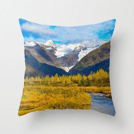 Autumn in Portage Valley - Alaska Throw Pillow