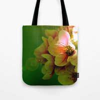 flora Tote Bags featuring Flora by Jake Stanton