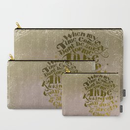 Kicking up gold dust on the streets of glory Carry-All Pouch
