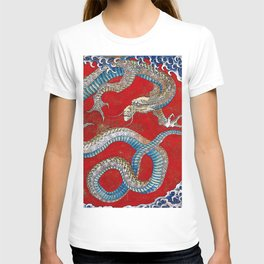 "Hokusai, "" Japanese dragon ""(Ceiling painting) T-shirt"