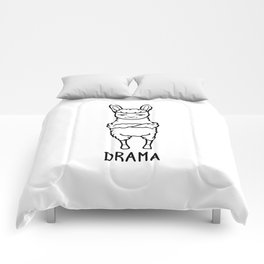 Drama Shirt Funny Llama Alpaca Pun Wordplays Gift Comforters
