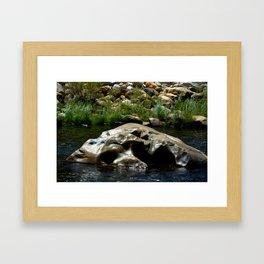 Center Rock Framed Art Print