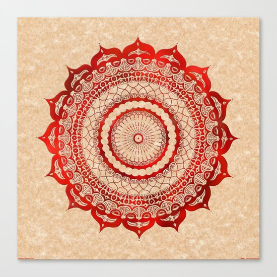 omulyána red gallery mandala Canvas Print