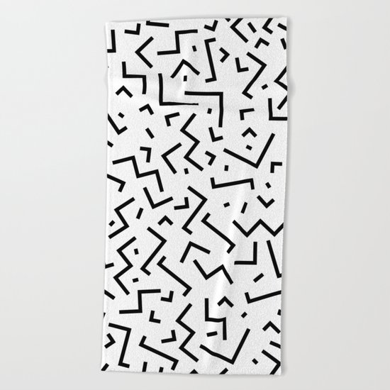 Memphis pattern 30 Beach Towel