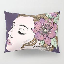 Flower Crown Girl Pillow Sham