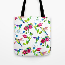 Spring, flowers and colibry Tote Bag