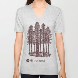 Cathedral Grove (Coastal Redwoods) Unisex V-Neck