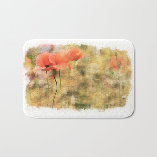 Poppy meadow -  photoadaption Bath Mat